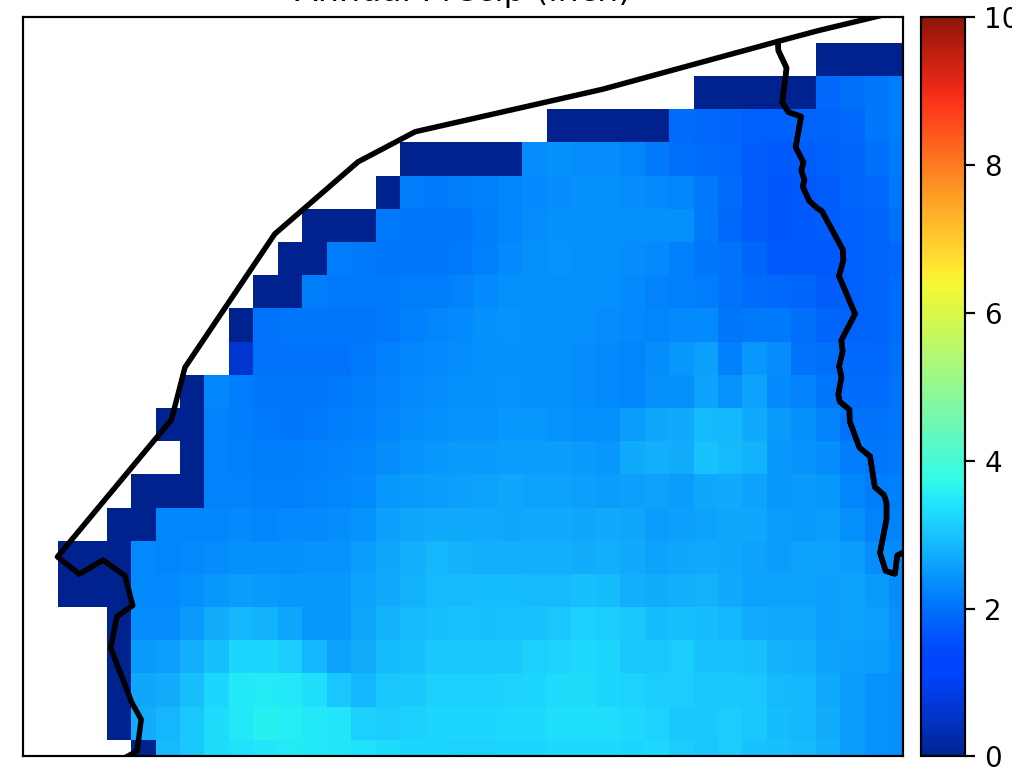 Python – Clip raster data with a shapefile – Water
