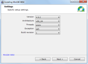 MinGW-64-installation