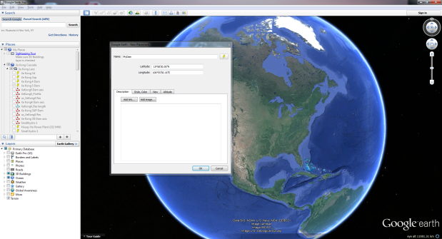 Google Earth as a Visualization Tool for Water Resources Systems Planning (Part 1)