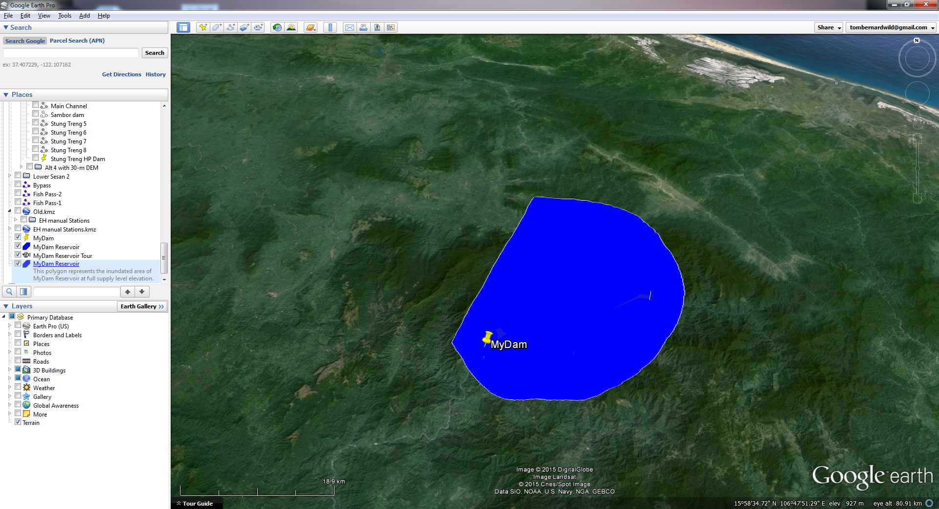 Google Earth As A Visualization Tool For Water Resources Systems - Elevation tool google earth