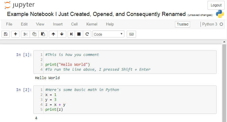 "Jupyter Notebook: A ""Hello World"" Overview – Water"